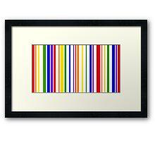 PRIDE in Barcode Framed Print