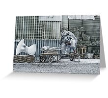 Marble sculptor in Carrera, Italy Greeting Card