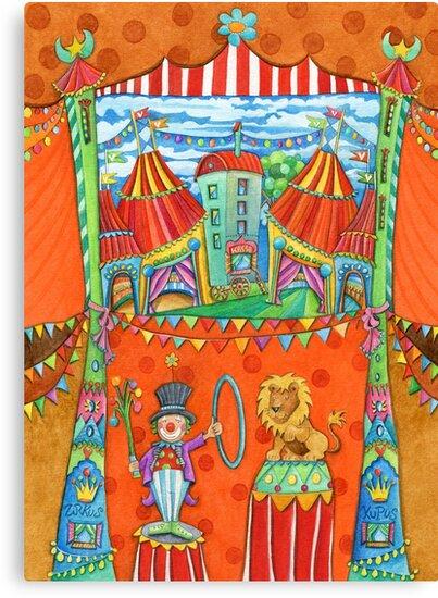 art for kids - circus kupus by Malerin Sonja Mengkowski