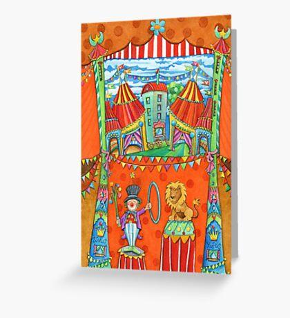 art for kids - circus kupus Greeting Card