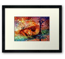 Asleep in Her Dreams Framed Print