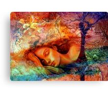 Asleep in Her Dreams Canvas Print