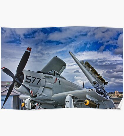 USS Midway Plane Poster