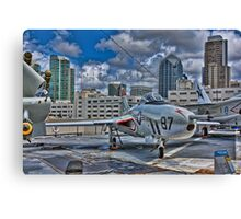 WWII Plane, USS Midway Canvas Print