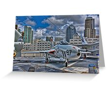 WWII Plane, USS Midway Greeting Card