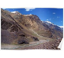 Spiti River in the Spiti Valley Poster