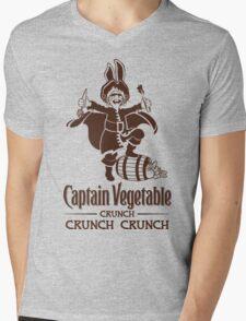 Captain Vegetable Mens V-Neck T-Shirt