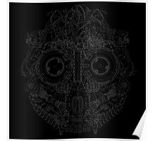 Robot Skull Poster