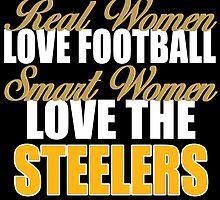 Real Women Love Football Smart Women Love The Steelers by sports-tees