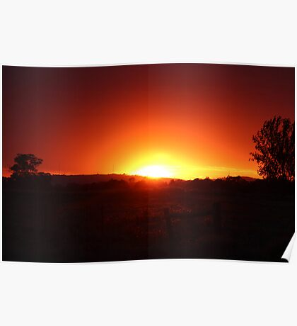 Outback Sunrise Poster