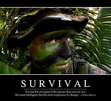 Survival: Inspirational Quote and Motivational Poster by StocktrekImages
