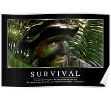 Survival: Inspirational Quote and Motivational Poster Poster