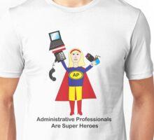 Administrative Professional Super Hero (Blonde) Unisex T-Shirt