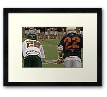 Waiting on a Faceoff Framed Print