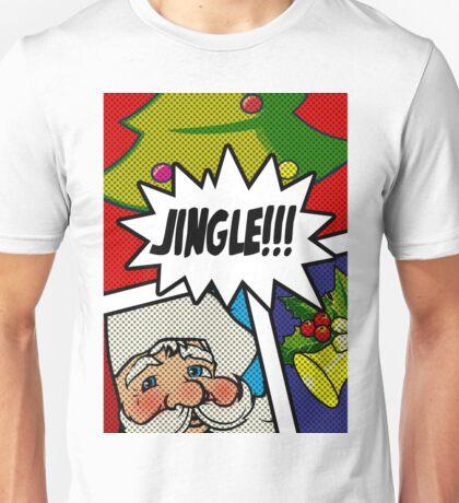 Pop Art Jingle Bells Unisex T-Shirt