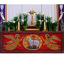 Easter Altar Photographic Print