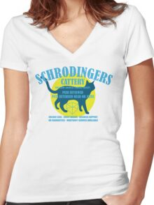 Schrodingers Cattery Women's Fitted V-Neck T-Shirt