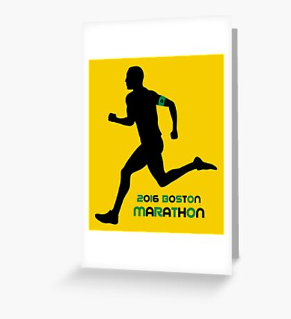 2016 Boston Marathon Greeting Card