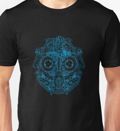 Robot Skull - blue T-Shirt