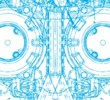 Robot Skull - blue Sticker