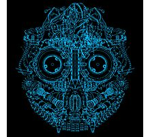 Robot Skull - blue Photographic Print