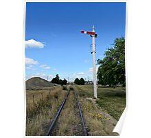railway signal Poster