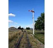 railway signal Photographic Print
