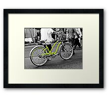 The Green Polka Dot Electra Bike Framed Print