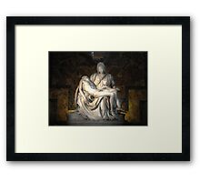 Pietà (1498–1499) (Michelangelo) Framed Print