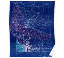 USGS Topo Map Oregon OR Portland 282792 1897 62500 Inverted Poster