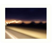 Abstract #2: Highway 90 to Del Rio Art Print