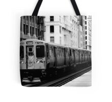 Brown Line Tote Bag