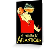 Retro French beer ad Le Bon Bock Greeting Card