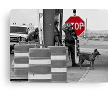 Border Check Canvas Print