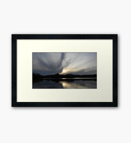 at the lake Framed Print