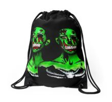 Zombie day of the dead gals Drawstring Bag