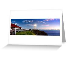 Byron Bay Lighthouse - Panorama Greeting Card