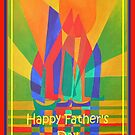 Happy Father's Day Dreamboat Cubist Junk In Primary Colors by taiche
