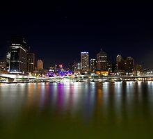 Brisbane, rising easter moon. by Nick Milton