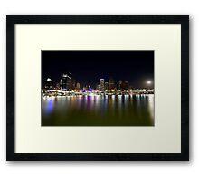 Brisbane, rising easter moon. Framed Print