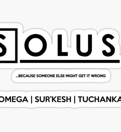 Solus M.D. Sticker