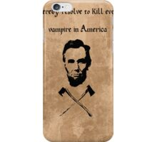 Abraham Lincoln: Vampire Hunter iPhone Case/Skin