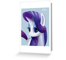 Rarity Portrait Greeting Card