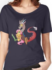Discord and Fluttershy Cuddles Women's Relaxed Fit T-Shirt