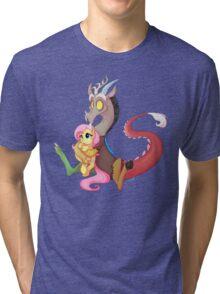 Discord and Fluttershy Cuddles Tri-blend T-Shirt