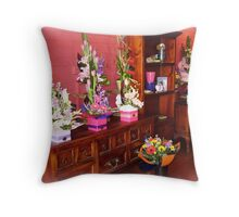 Floral arrangement - Florist Shop Throw Pillow