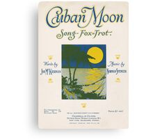 CUBAN MOON (vintage illustration) Canvas Print