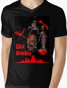 Eat Brains Mens V-Neck T-Shirt