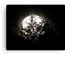 Moon Zap Canvas Print