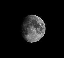 First Quarter Moon  by Yhun Suarez
